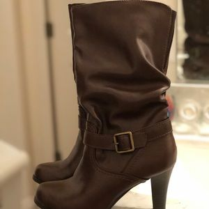 Arizona Jean Company Brown Slouch Boots/Booties